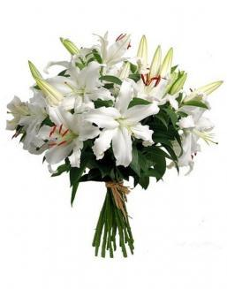 Bouquet of 15 lilies | Flowers to girlfriend
