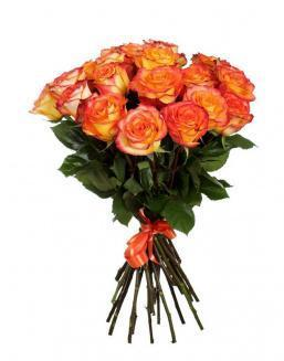 Bouquet of 15 orange roses | Flowers to girlfriend