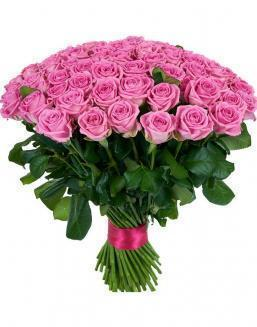 Bouquet 101 pink roses | Flowers to girlfriend