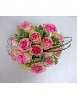 Gift Tenderness set of pink roses | 25 pink flowers to girlfriend flowers
