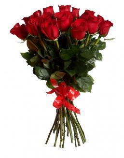 Bouquet of 15 red Dutch roses | Flowers to girlfriend