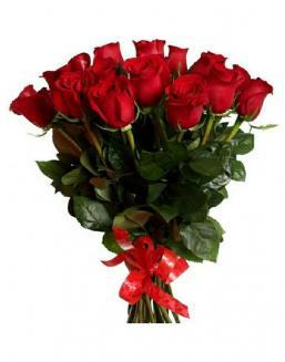 21 long red roses deluxe | Flowers to girlfriend
