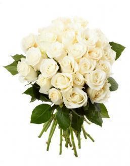 Bouquet of 33 white roses | Flowers to girlfriend
