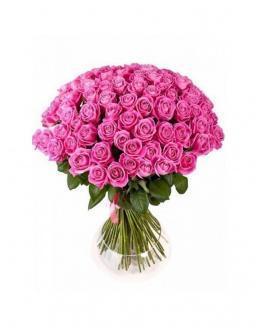 Bouquet of 77 pink roses | Flowers to girlfriend